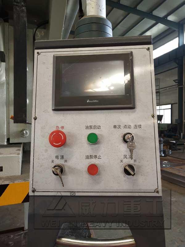 plc触摸屏在160吨液压冲床上的应用